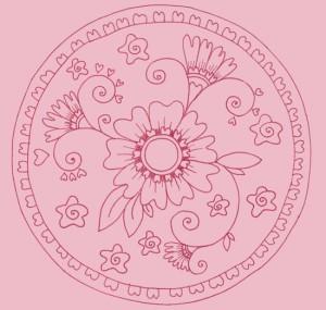 mandala II růžováá